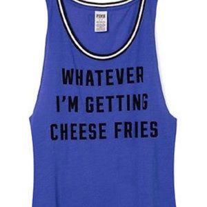 Victoria Secret PINK Cheese Fries Muscle Tee